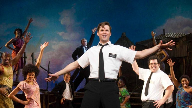 The Book of Mormon has arrived in Sydney. The Mormon church has embraced the show since it premiered on Broadway with Andrew Rannells (pictured) in the lead role.