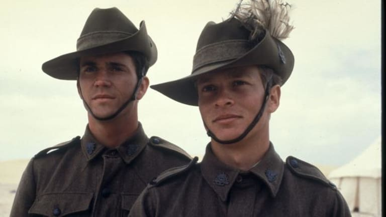 Mel Gibson (left) and Mark Lee in Peter Weir's classic film Gallipoli (1981).