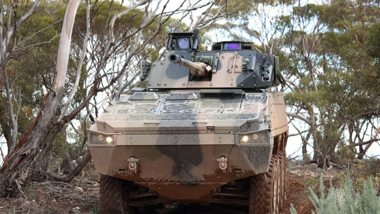 BAE Systems' AMV-35 armoured defence vehicle. The company lost its bid for the Land 400 contract.