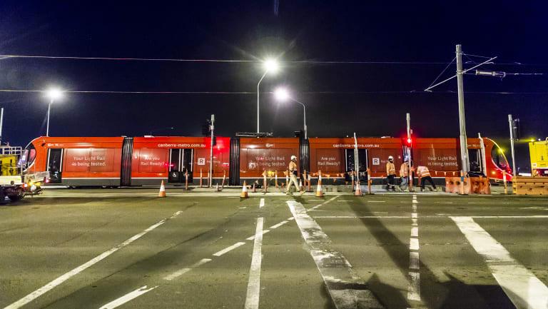 Testing began on Flemington Road on Monday night.