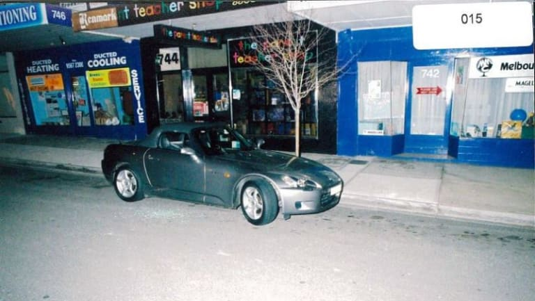 Willie Thompson's silver Honda Roadster convertible.
