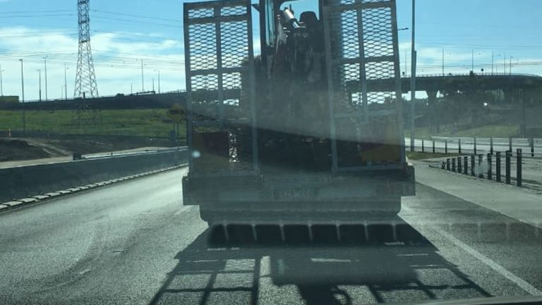 The truck allegedly involved in the Tullamarine Freeway road rage incident.
