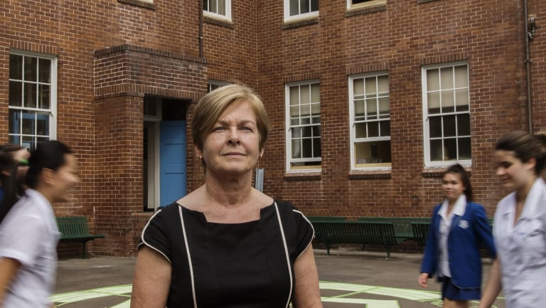 Liz Diprose, principal of Willoughby Girls, a school which restricts smartphone use.