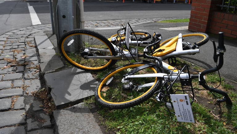 The prankish placement of the bikes was funny at first, then it just became a bit ho-hum.
