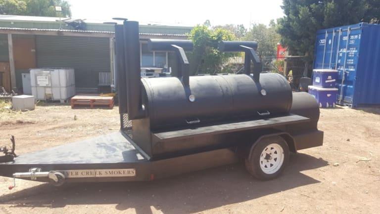 The stolen BBQ trailer