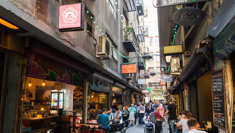 Degraves Street in Melbourne's CBD.