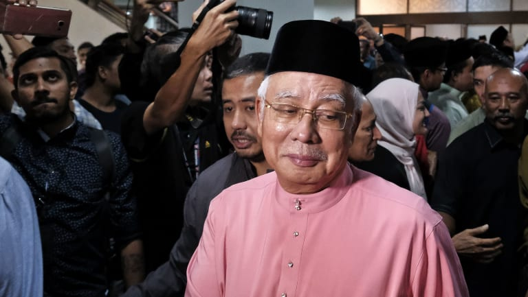 Malaysia's former prime minister Najib Razak attends an event on Friday.