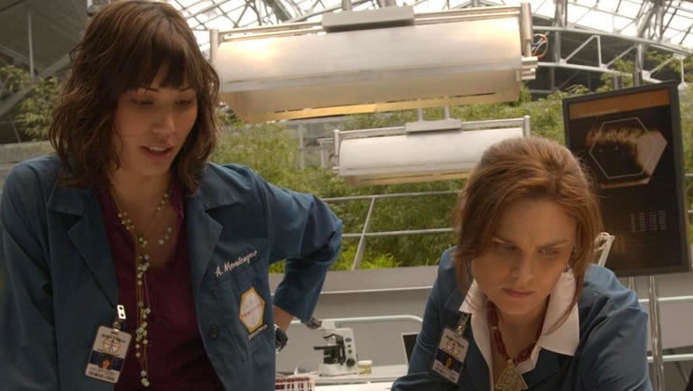 Dr Temperance Brennan, played by Emily Deschanel  (right),  is one of the few female characters in pop culture with autism.