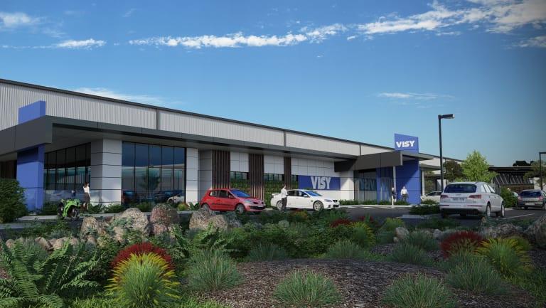 An artists' impression of Visy Australia's new distribution centre in Truganina.