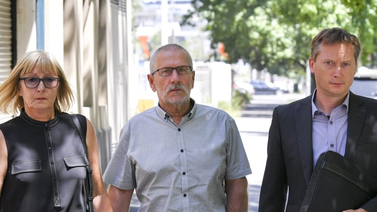 Anna's Bowditch's mother Elzbieta Wartalska-Kula, father  Andrzej Kula and husband Steve Bowditch at Wednesday's inquest.