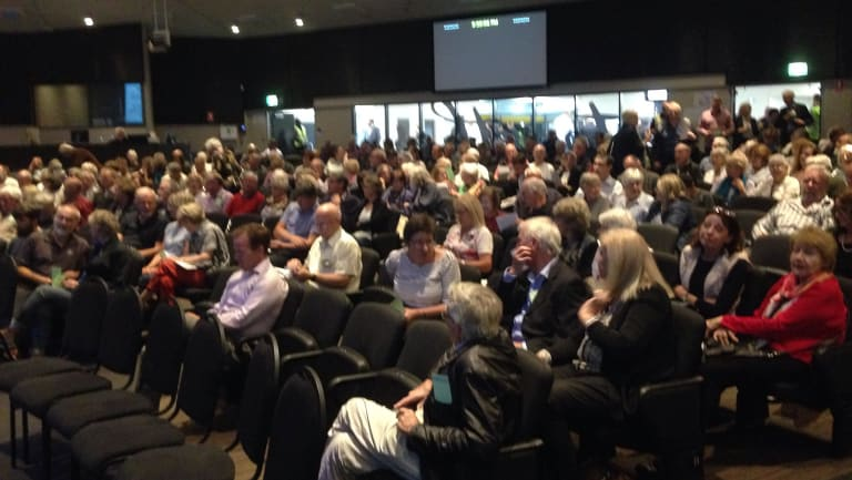 The meeting was attended by a round 300 ratepayers.
