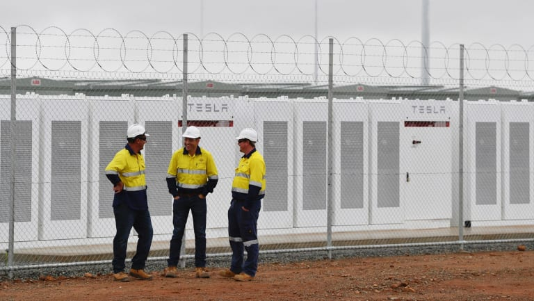 South Australia's Tesla battery.