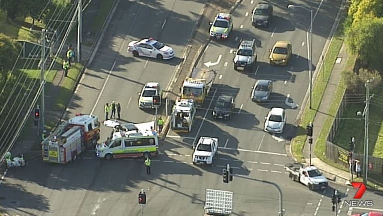 Emergency services were called to the intersection at Browns Plains.