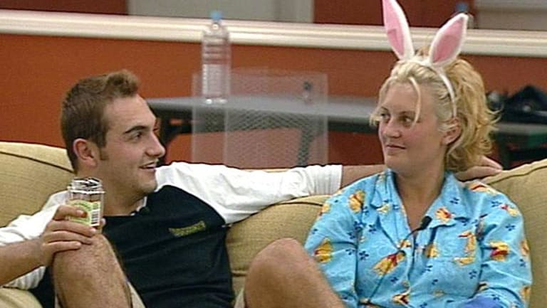 Big Brother's Sara-Marie Fedele, right, with housemate Ben.