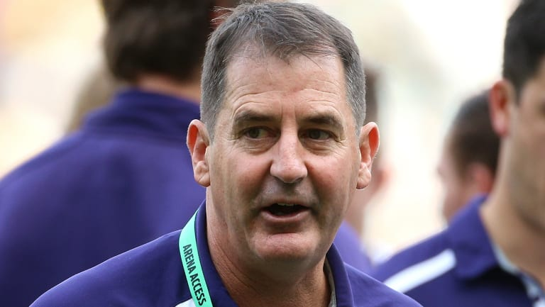 Dockers coach Ross Lyon during the 77-point loss to Richmond last week.