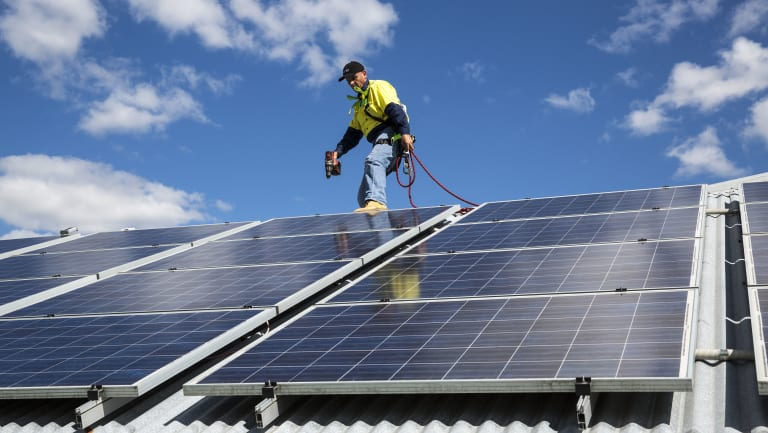 If solar panels cost more than $20,000 you can claim the cost over the useful life of the panels.
