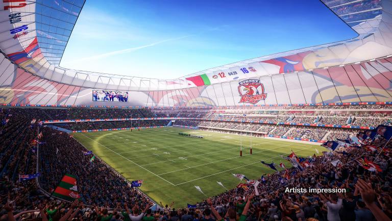 An artists impression of the proposed Allianz Stadium rebuild.