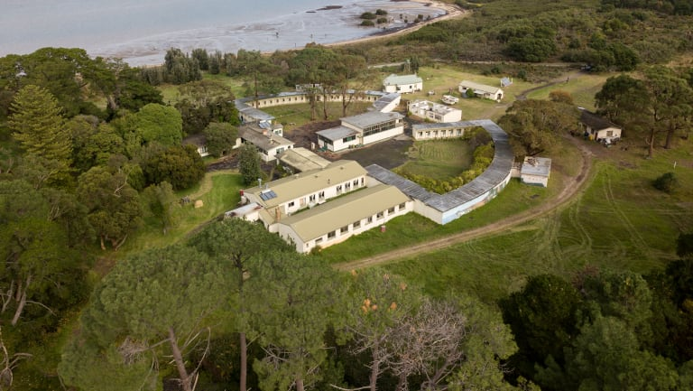 Aerial view of the former prison farm on French Island. Its new owner, Chinese developer the Wufu Group, plans to retain the buildings.