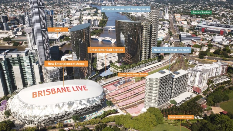 The proposed Brisbane Live development.