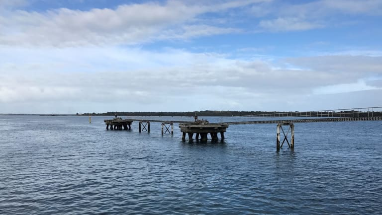 Victoria's Crib Point as it is now. AGL and APA plan to anchor the regasification unit off Jetty Berth 2.