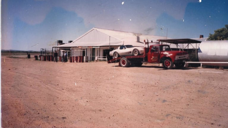 A photo of the Betoota Hotel taken by Robert Haken during a trip in the early 90s.