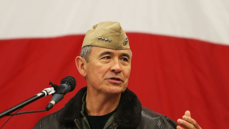 Rear Admiral Harry Harris, Commander, US Pacific Command, and Donald Trump's choice to be the new US ambassador to Australia.