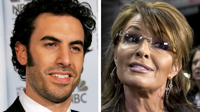"""Sarah Palin labelled comedian Sacha Baron Cohen's attempt to dupe her by dressing as a disabled vet """"disgusting""""."""