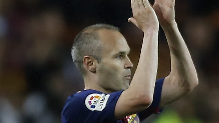 Football royalty: Andres Iniesta has been linked with a move to the A-League.