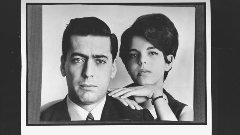 Vargas Llosa with his first wife, Patricia Llosa in 1967. They were married for 50 years.