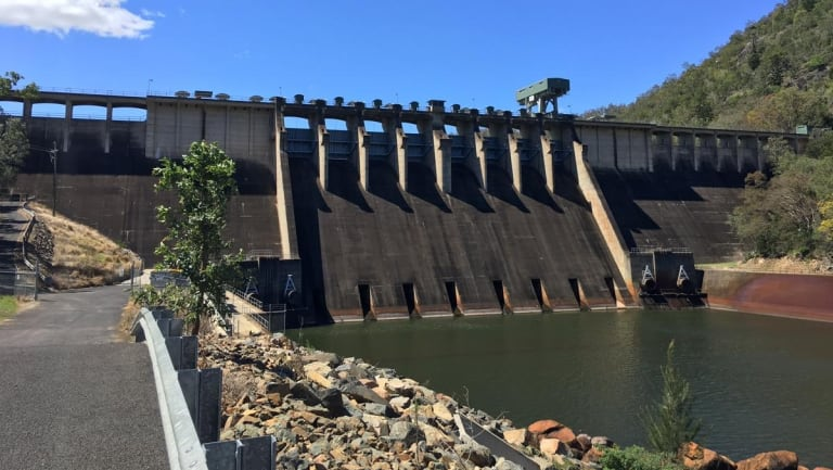 The water storage capacity of Somerset Dam has been temporarily lowered for upgrade works.