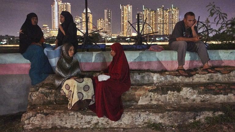 Homeless Somalian refugees.