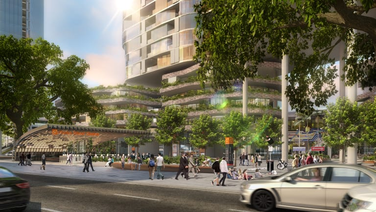 A concept image of the new Roma Street station after Cross River Rail is built.