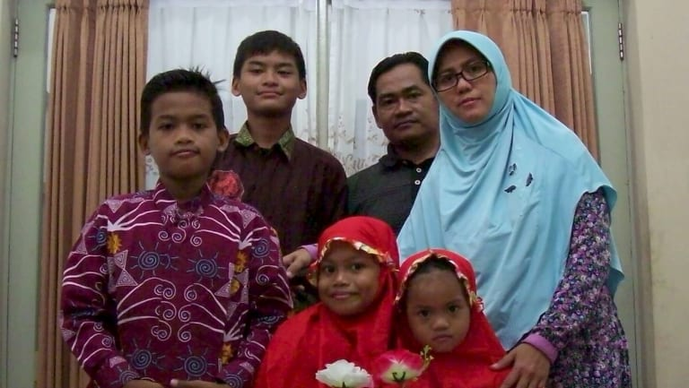 An undated photo: The family police say were responsible for the church bombings.