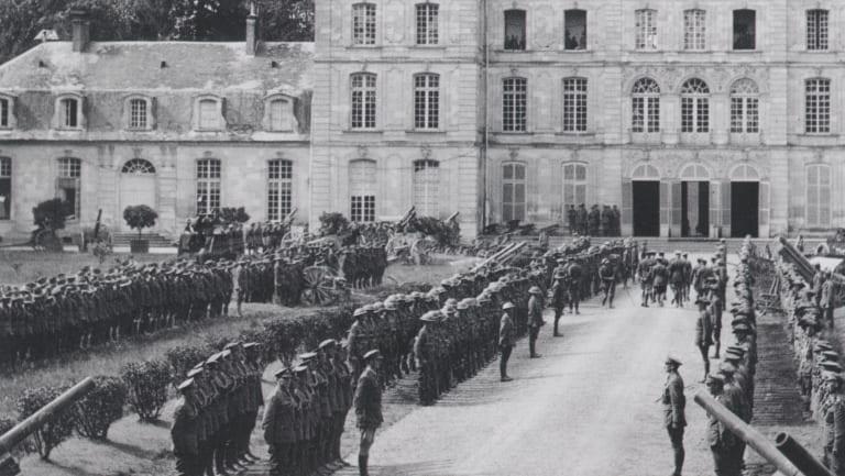 The Australian Corps Headquarters was in the Château de Bertangles.