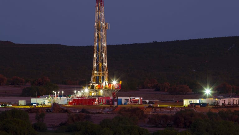 Drilling at the AWE/Beach Energy Waitsia joint venture in Western Australia.