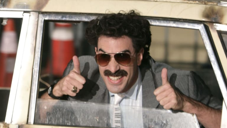Actor Sacha Baron Cohen manages to fool people despite his recognisable face.