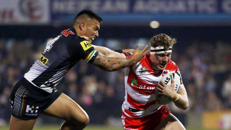 Off the bench: Kurt Mann's form has demanded a starting role at the Dragons.