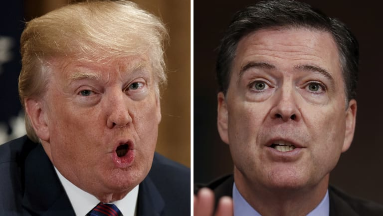 US President Donald Trump and former FBI boss James Comey have traded insults over what Trump perceived to be bias.