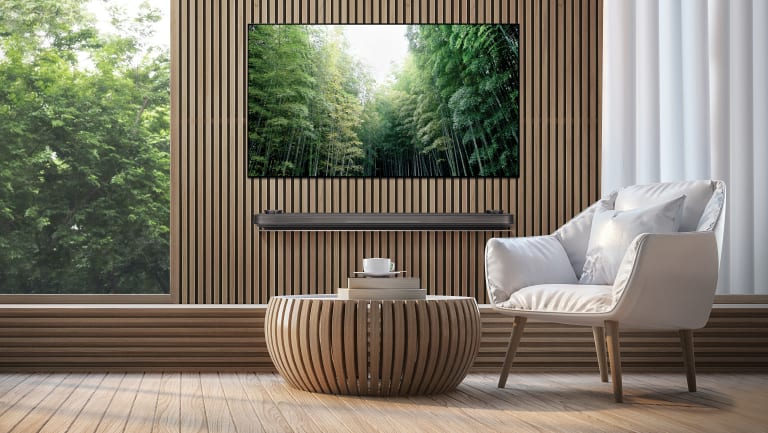 The 'wallpaper' W8 is the most expensive of LG's 2018 OLEDs, starting at $9999 for a 65-inch model.