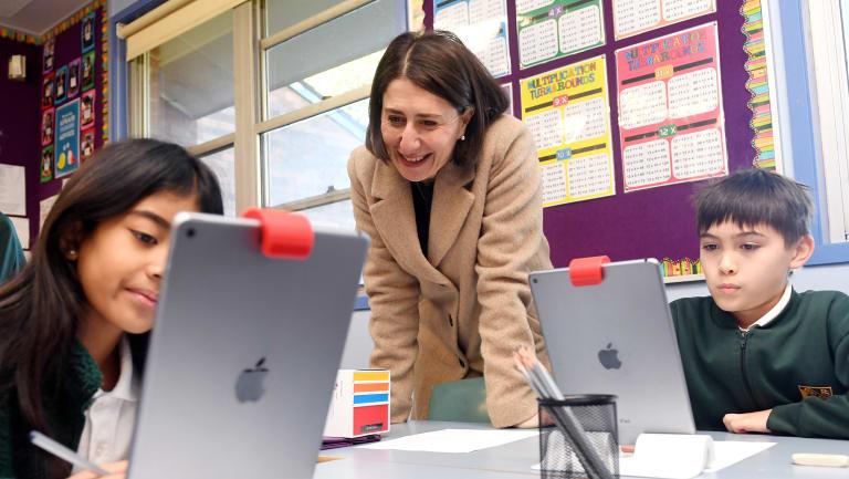 Premier Gladys Berejiklian at Kent Road Public School.