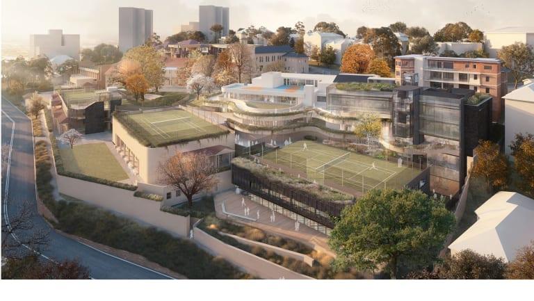 An artist's impression of the proposed development at Loreto Kirribilli.