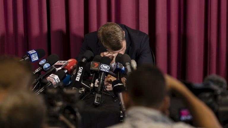 Warner breaks down over the ball-tampering scandal.