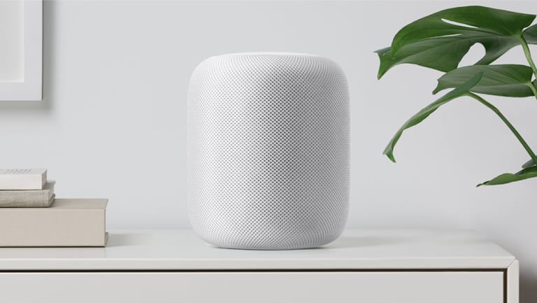 The HomePod integrates with Apple's exisitng VoiceOver feature.