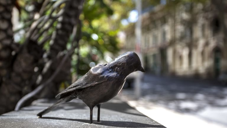 Emin has made more than 60 bronze birds sculptures and dotted them down Bridge and Grosvenor streets