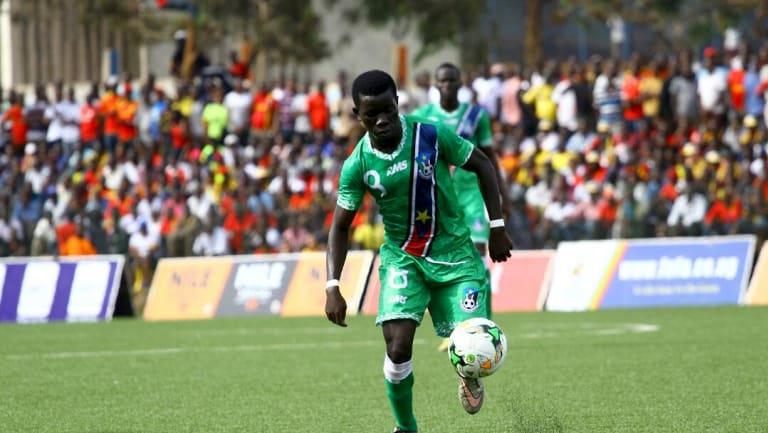 South Sudanese soccer player Robert Wurube.