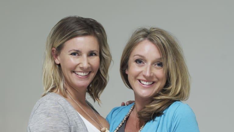 Endota founders Belinda Fraser (left) and Melanie Gleeson before Fraser left the business.