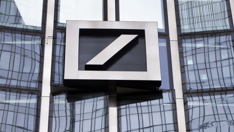 The once-mighty Deutsche Bank's value is at record lows.