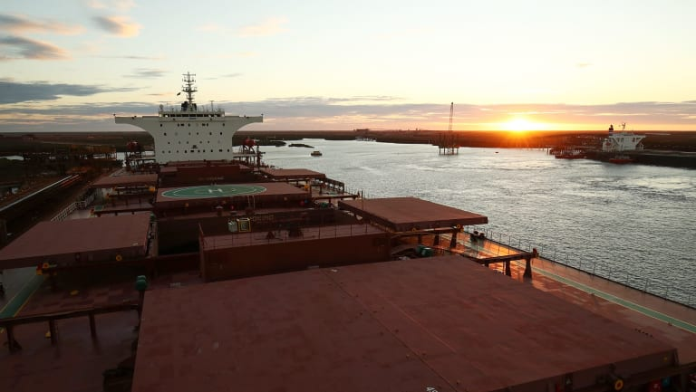 Fortescue Metals Group's port facility at Port Hedland, Western Australia.