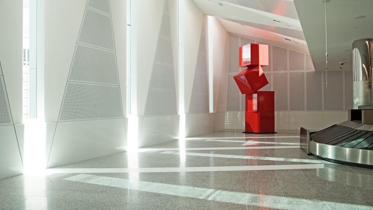Canberra Airport's international terminal, which has won an interior design award.