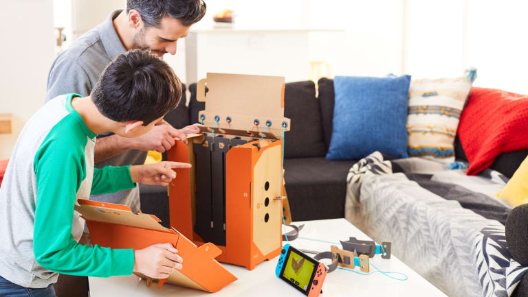 The toys come flat-packed and must be constructed before you can play. The builds range from a few minutes to several hours in length.